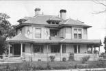Residence of Beverly Randolph McCreight, this 11 room house occupied a city block in Newton NC