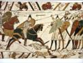 Scene for the Bayeux Tapestry depicting William's invasion of England in 1066