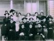 "Catawba College ""Old maid's"" costume  party, Henrette Killian middle row 3rd from right"